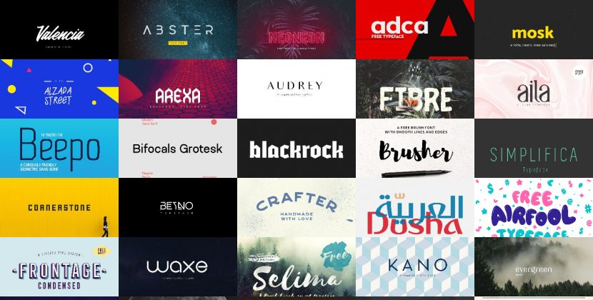 +100 best free fonts bundle - collections-fonts