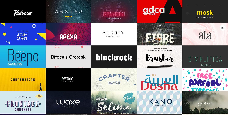 +100 best free fonts bundle - collections-fonts