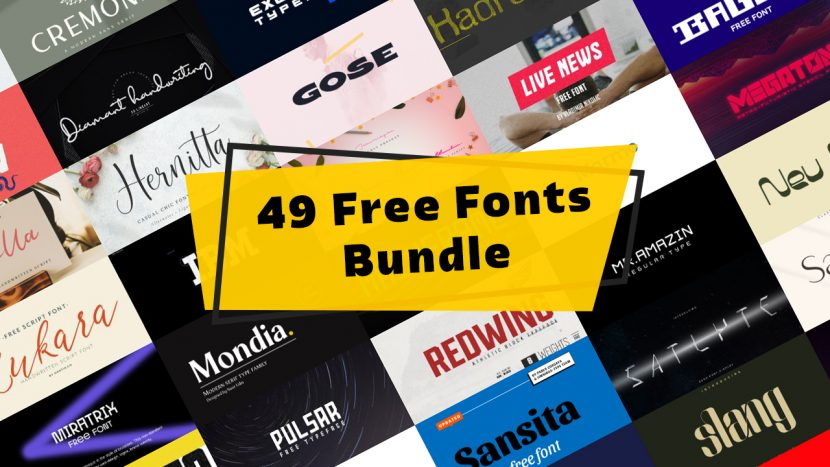 +49 Free Fonts Bundle - collections-fonts