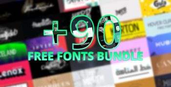 90 Free Fonts Bundle - collections-fonts
