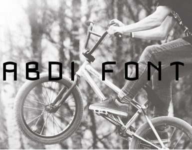 ABDI Free Font - decorative-display