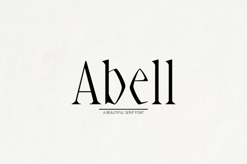 Abell Free Font - serif
