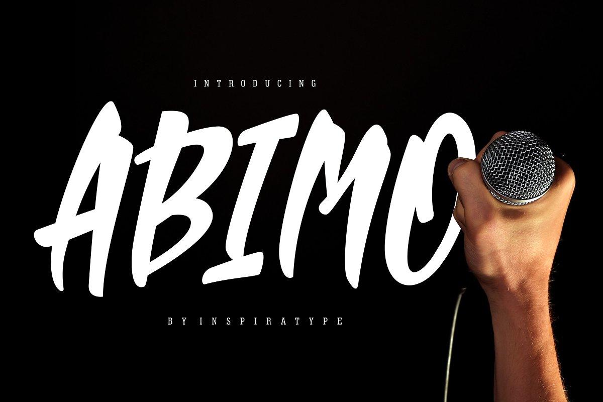 Abimo Free Font - script