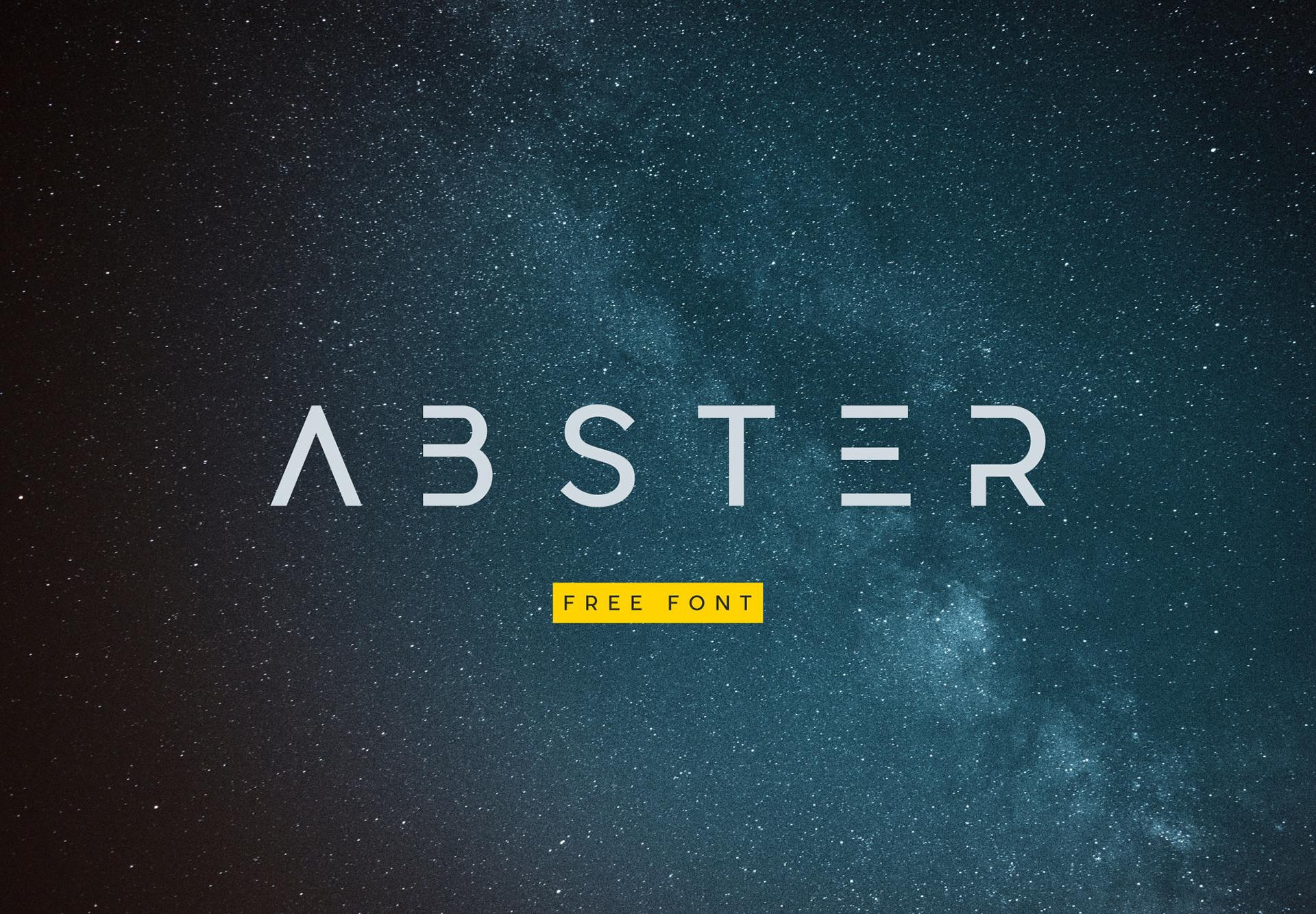 Abster Free Typeface - sans-serif