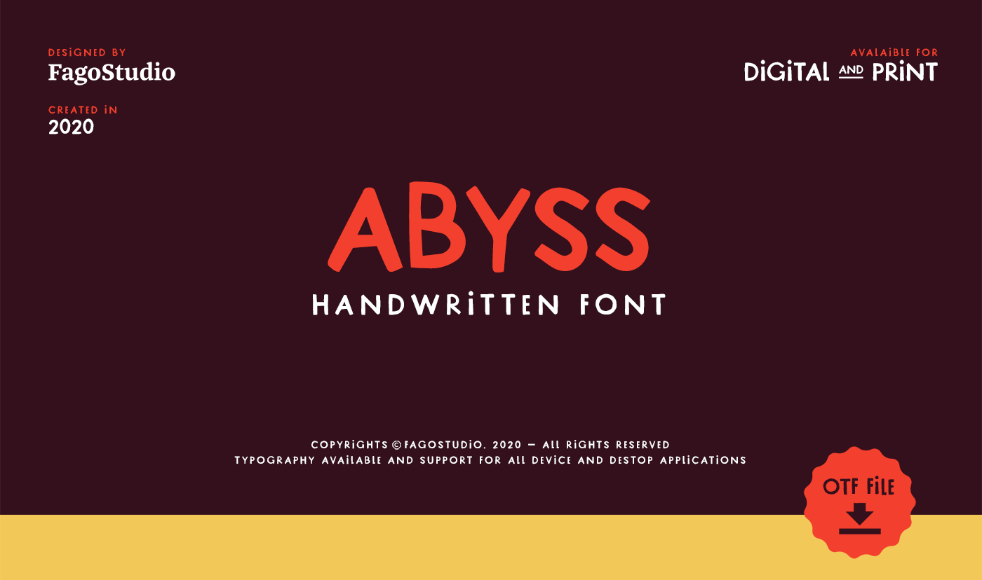 Abyss Free Font - script