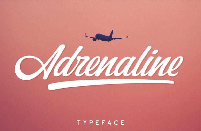 Adrenaline Free Font - script