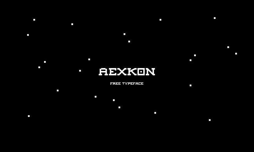 AEXKON Free Font - serif, decorative
