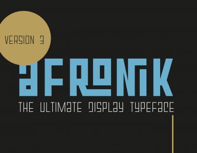 Afronik Free Font - decorative-display