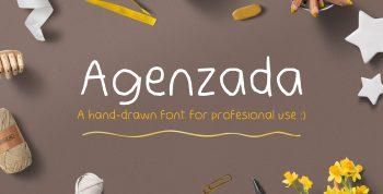 Agenzada Hand-Drawn Free Font - script