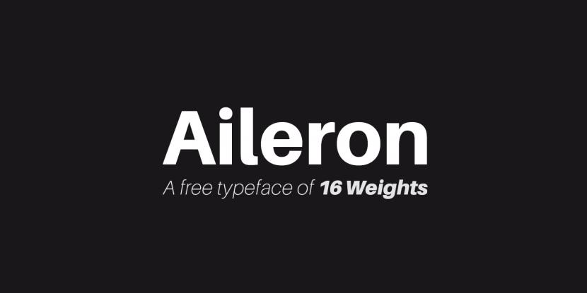 Aileron Free Font Family - sans-serif