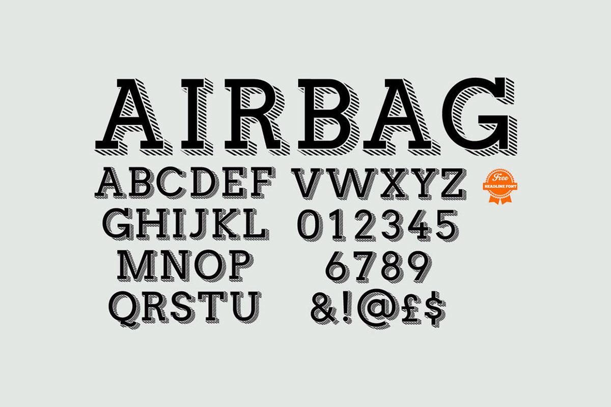 Airbag Free Font - slab-serif