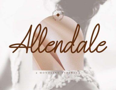 Allendale Free Font - script