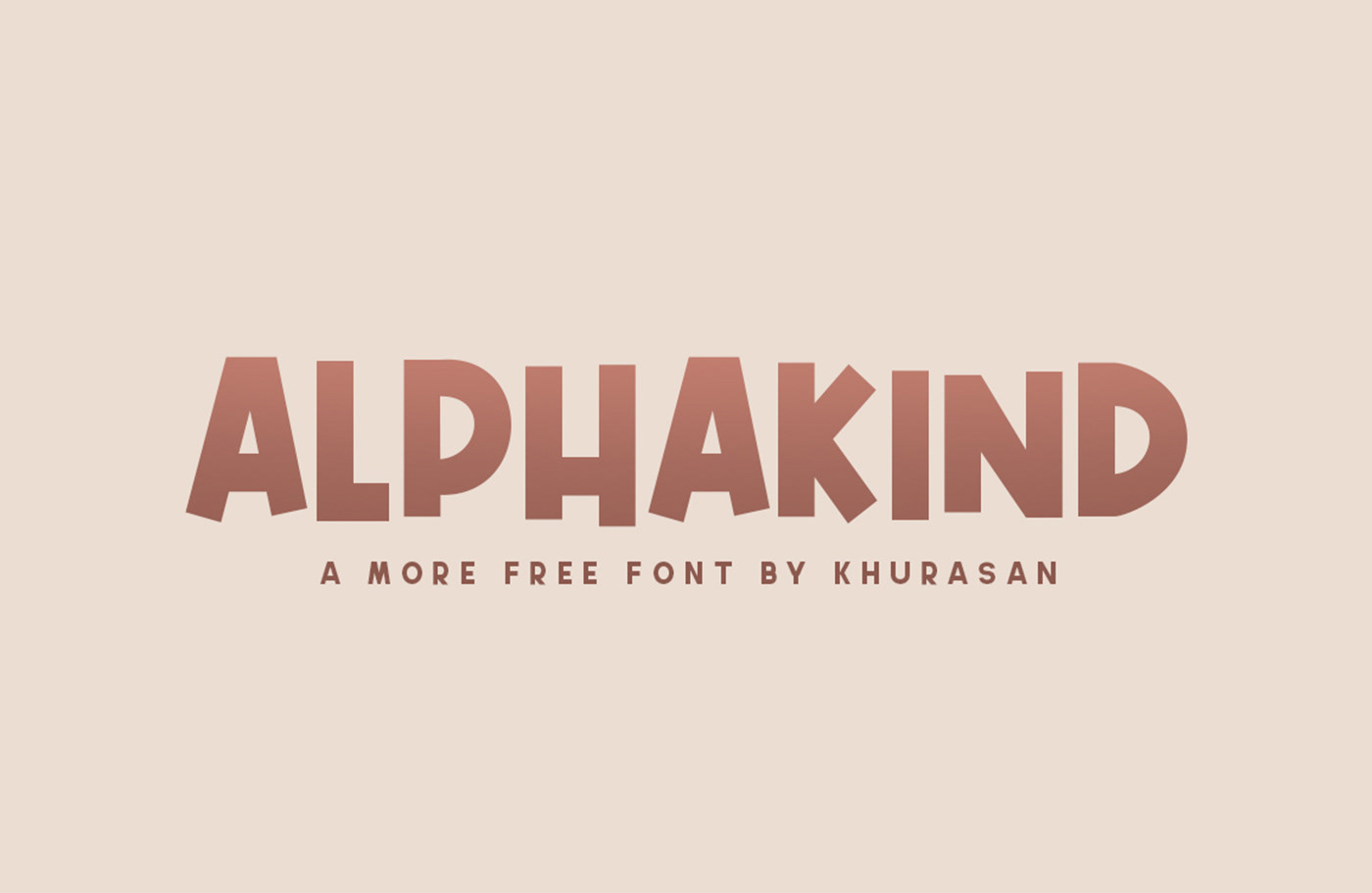 Alphakind Free Font - decorative-display