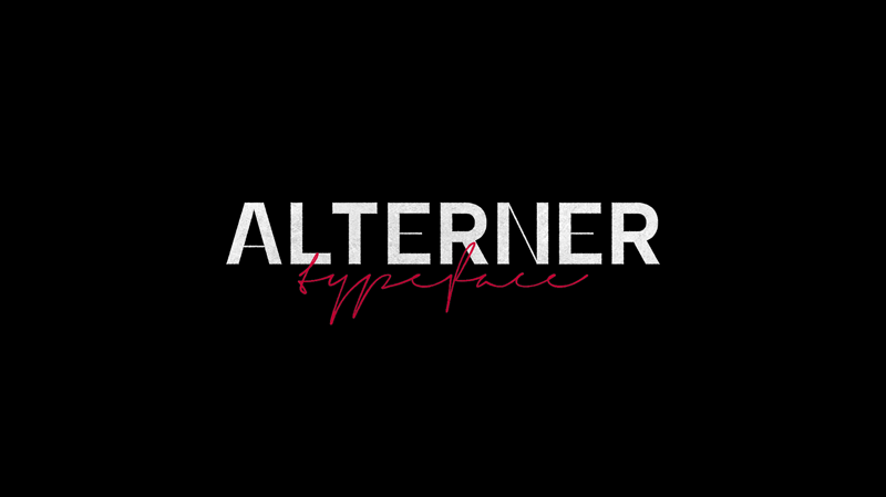 Alterner Free Font - decorative-display