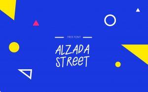 ALZADA STREET Free Font - serif