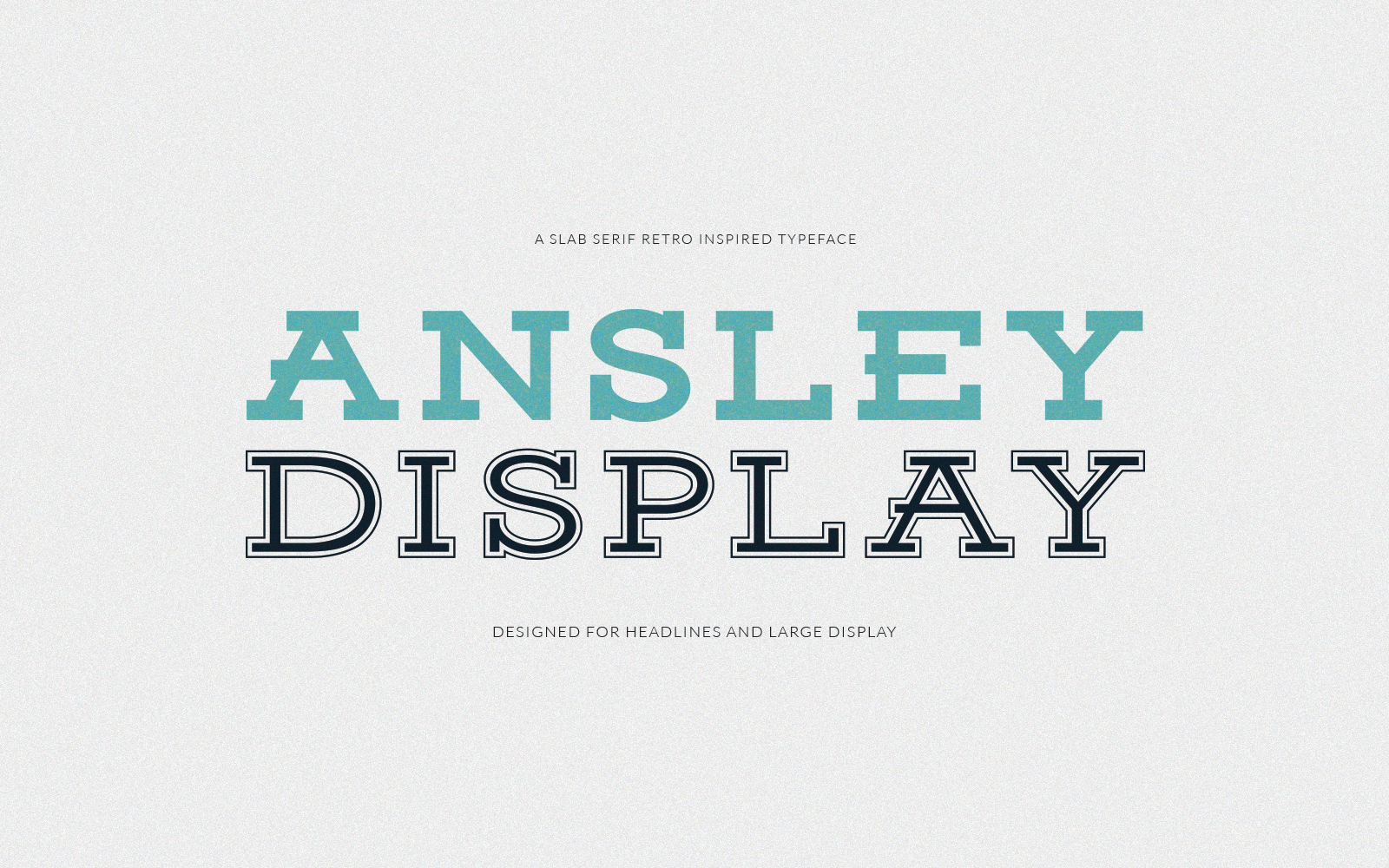 Ansley Display Free Font - serif