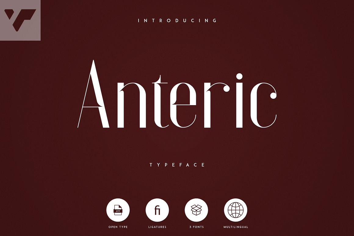 Anteric Free Font - decorative-display