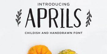 Aprils Handdrawn Free Font - script