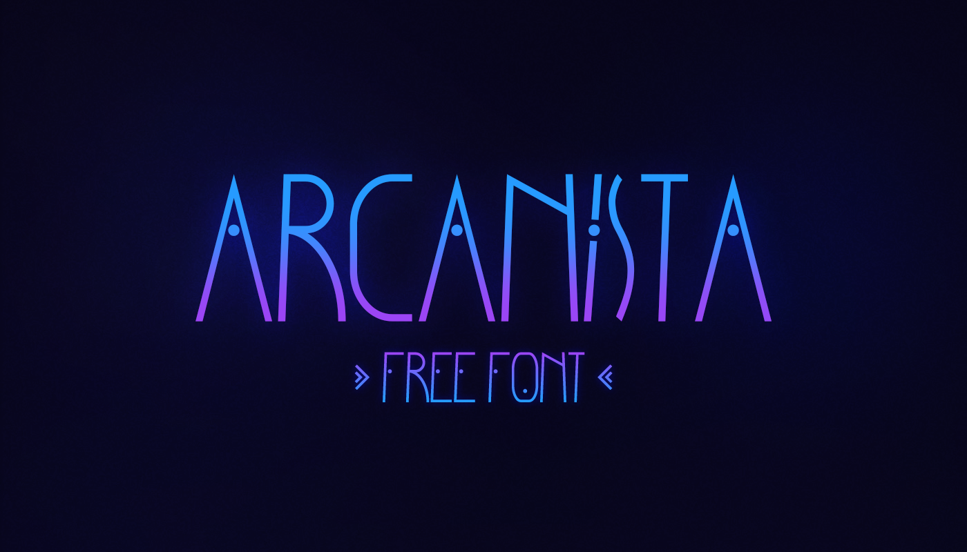 Arcanista Free Font - decorative-display