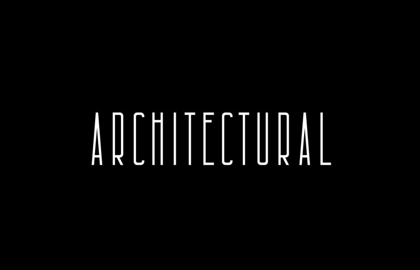 Architectural Free Font - decorative
