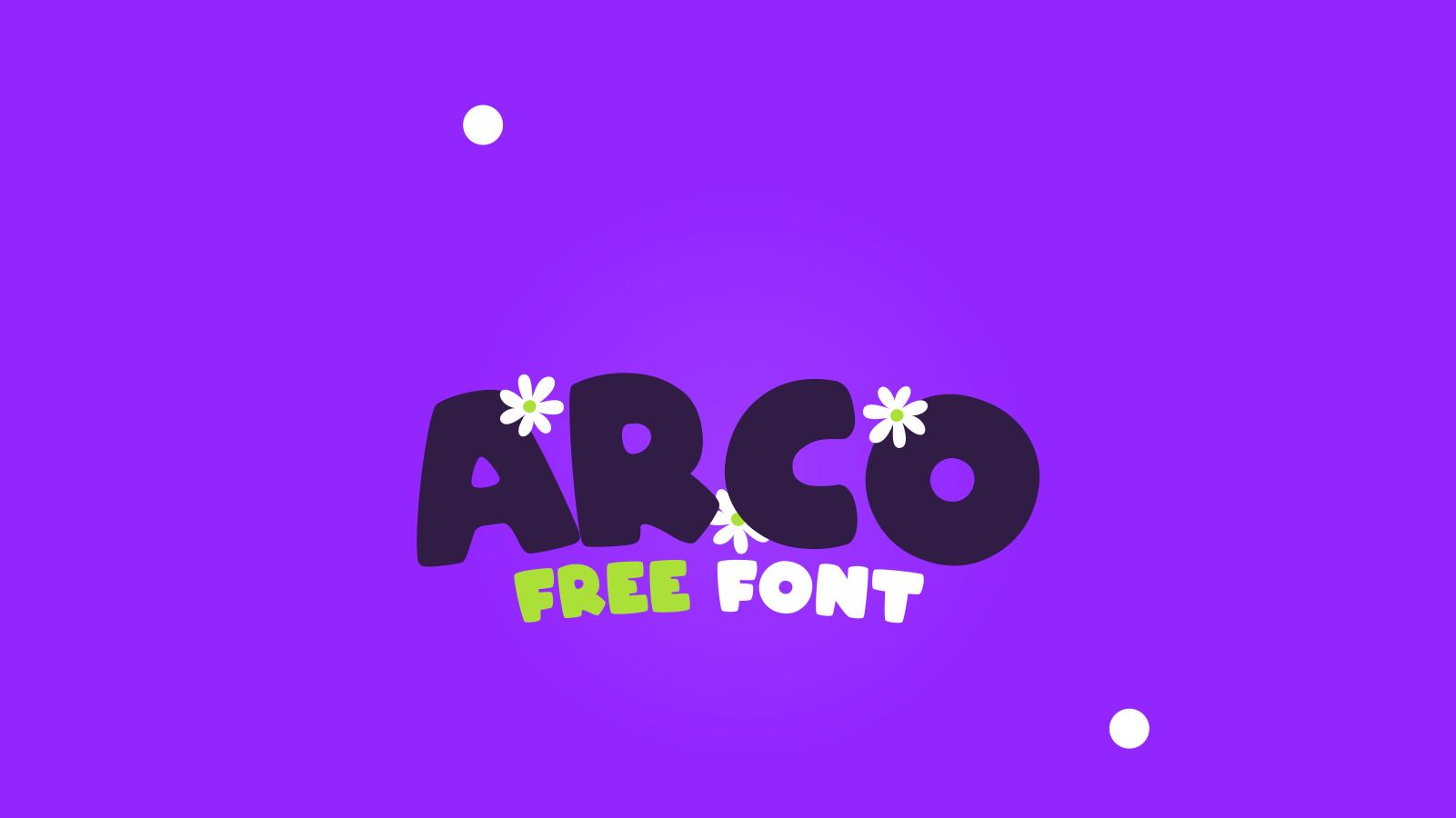 Arco Free Font - sans-serif