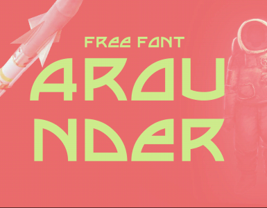 AROUNDER Free Font - sans-serif