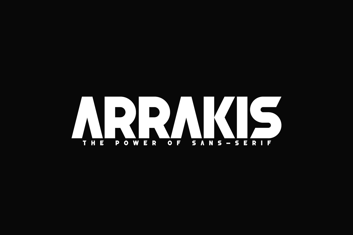 Arrakis Free Font - sans-serif