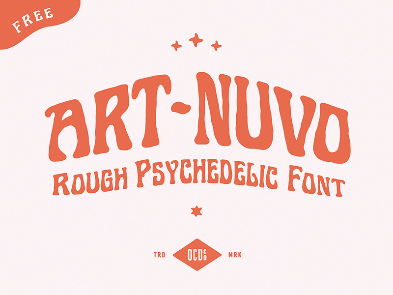 Art-nuvo Free Font - decorative-display