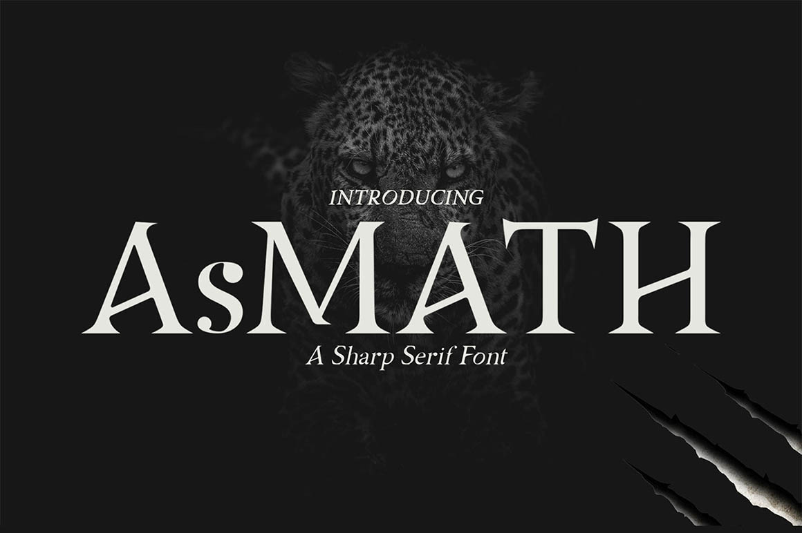 Asmath Free Font - serif