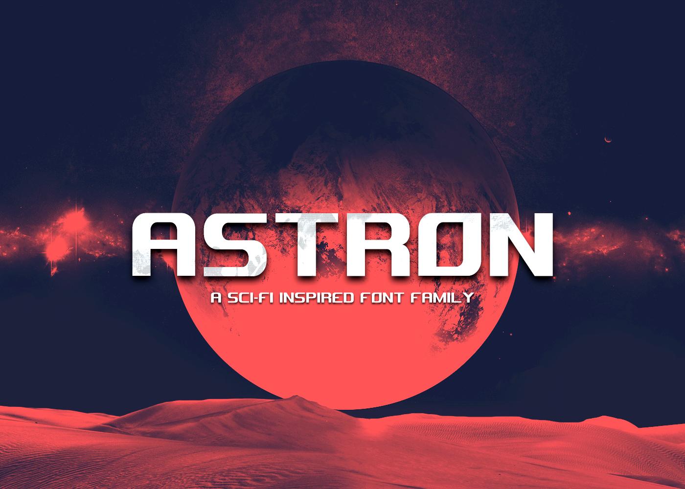 Astron Free Font - sans-serif