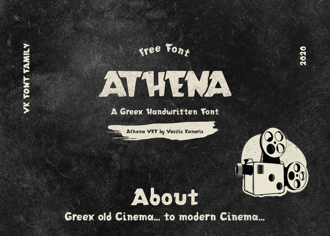 ATHENA VKF Free Font - decorative-display