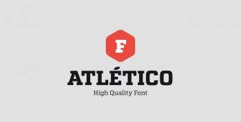 Atletico Free Font - slab-serif