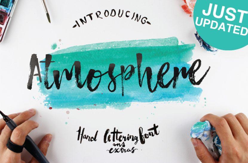 Atmosphere Free Font - script