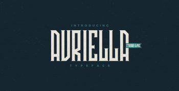 Avriella Free Font - decorative