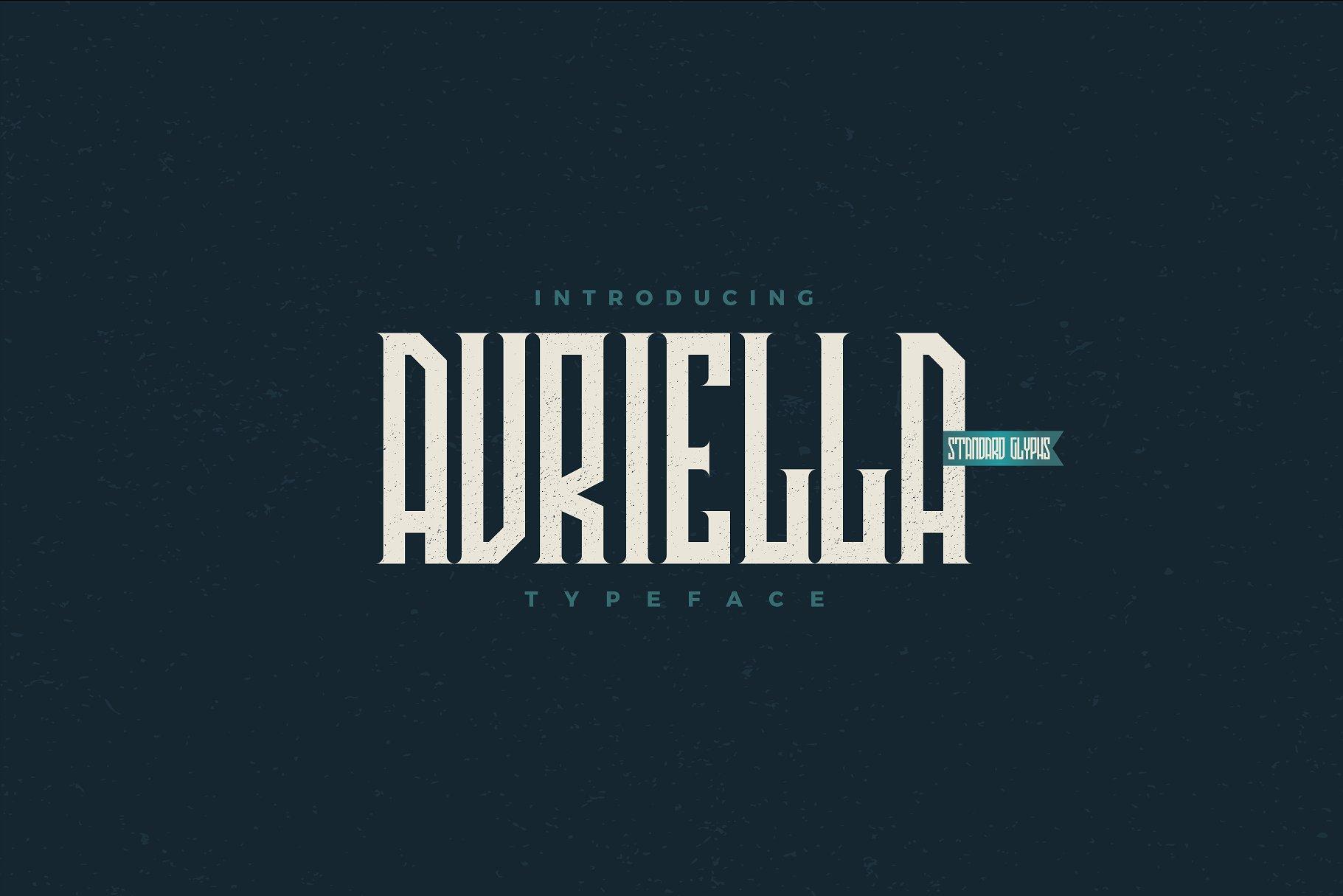 Avriella Free Font - decorative-display