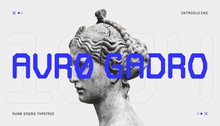 AVRO GADRO Free Font - sans-serif