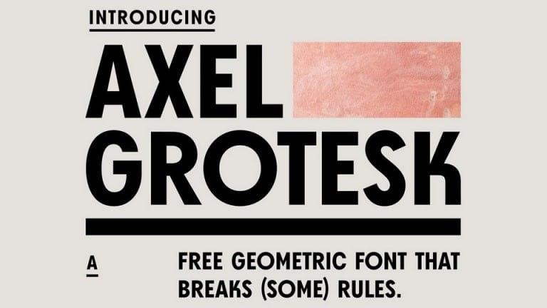 Axel Grotesk Free Font - sans-serif