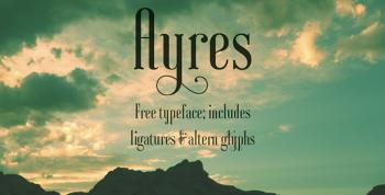 Ayres Free Font - decorative