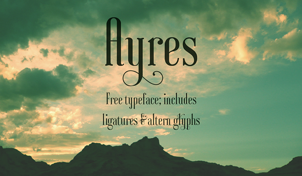 Ayres Free Font - decorative-display