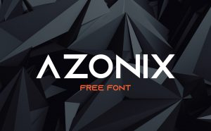 Azonix Free Font - sans-serif