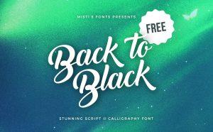 Back to Black Free Font - script
