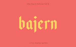 Bajern Free Typeface - blackletter