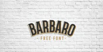 Barbaro Free Font - serif