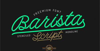 Barista Free Script Font - script