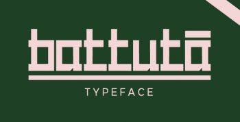 BATTUTA Free Typeface - decorative
