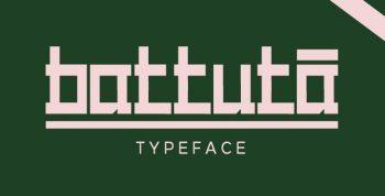 BATTUTA Free Typeface - decorative