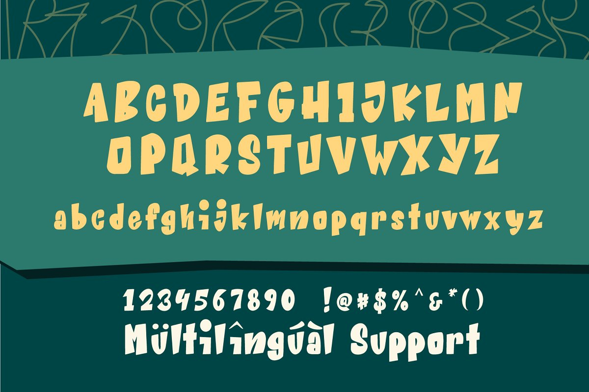 Beat Word Free Font - decorative-display