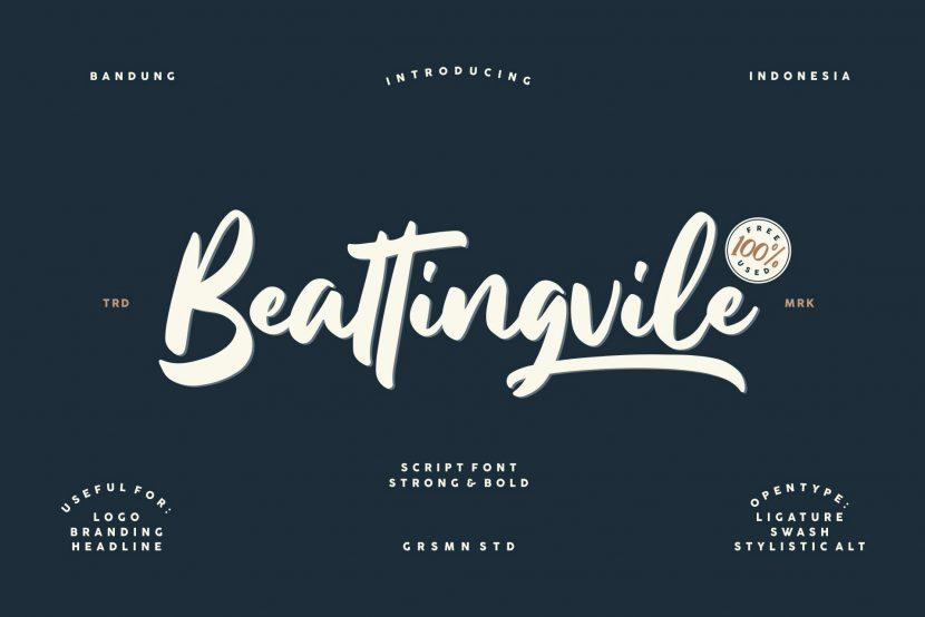 Beattingvile Free Font - script
