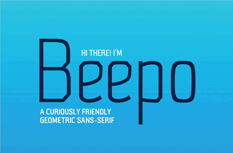 Beepo Free Geometric  Typeface - sans-serif