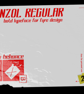 Benzol Regular Free Font - decorative-display